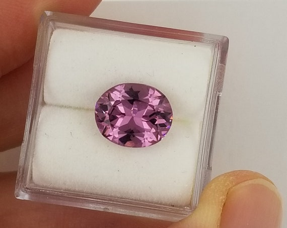 Pink Purple Spinel 10 x 8.2mm Oval Natural Gemstone