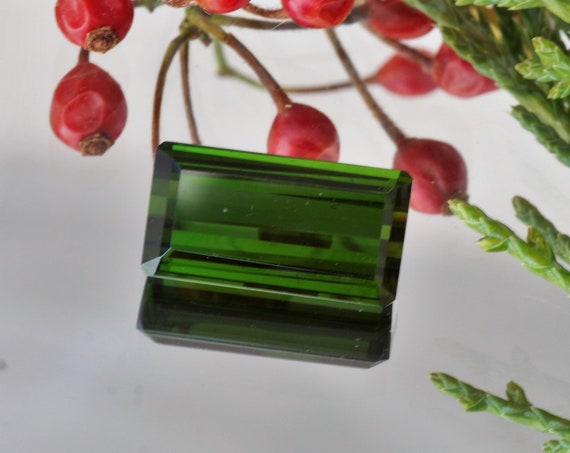 Rectangle Green Tourmaline 9.67cts