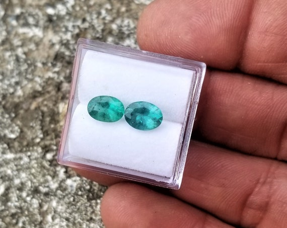 Natural Emerald Pair 1.45 cts tw