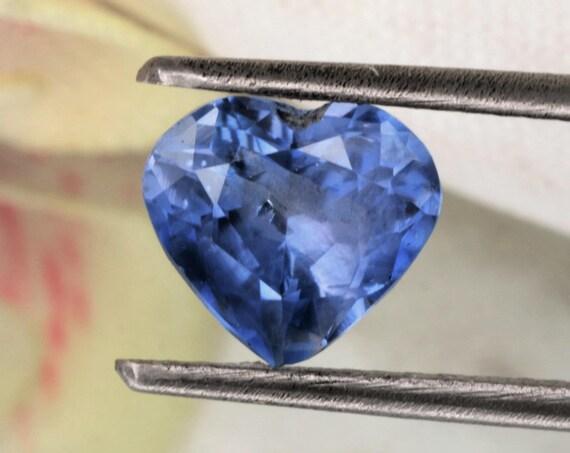 Heart Shape Color Change Blue Sapphire 1.57cts