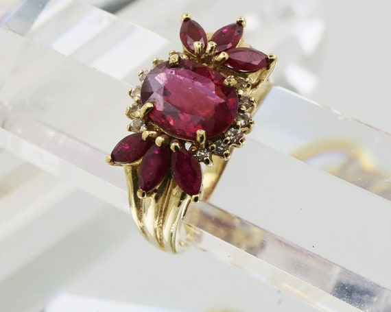 Art Deco Natural Ruby Ring