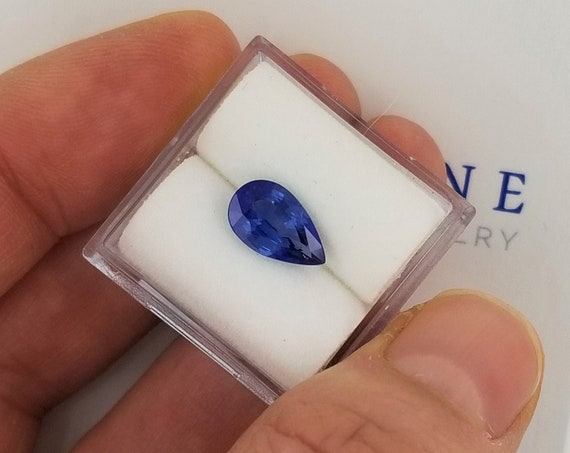Pear Shape Natural Blue Sapphire 1.62cts