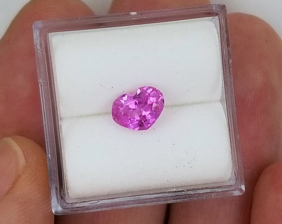 Pink Sapphire 1ct Heart Shape September Birthstone