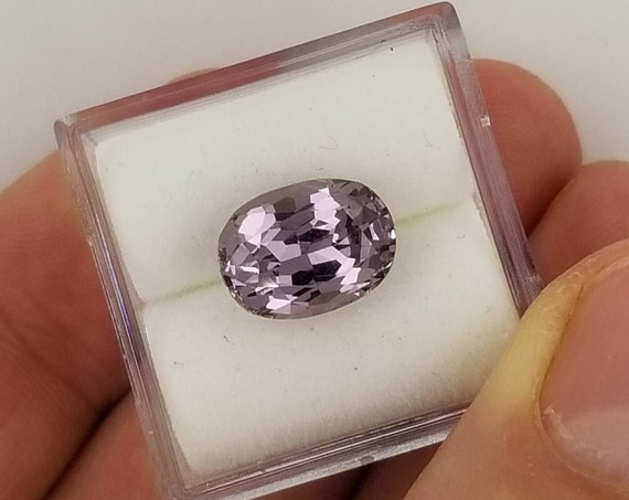 Purple Gray Spinel 3.81cts Oval Precision Cut Gemstone