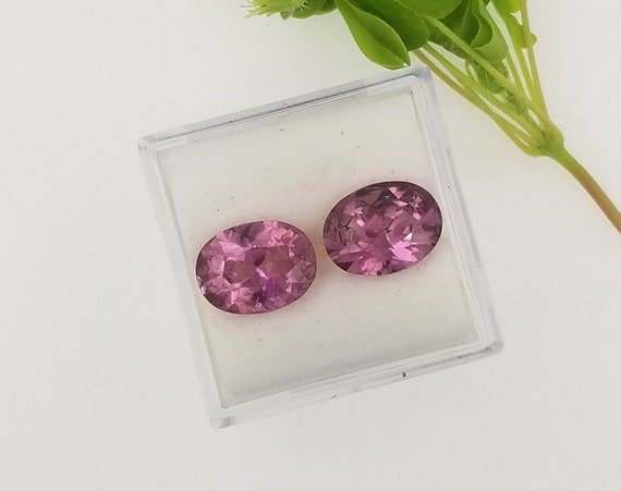 Natural Spinel 9.8x7.5 MM Oval Matching Pair for Earrings