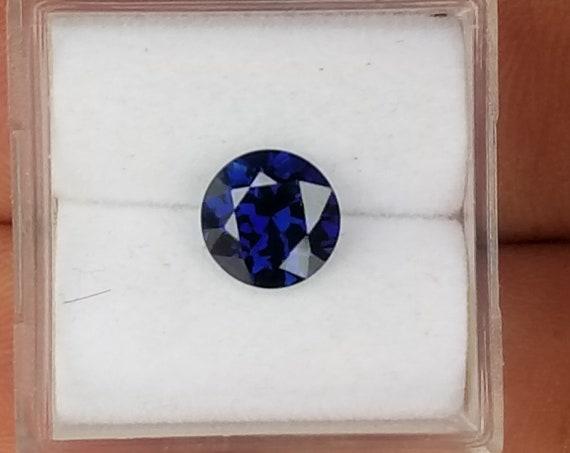 Blue Sapphire Round 1.58CTS Round