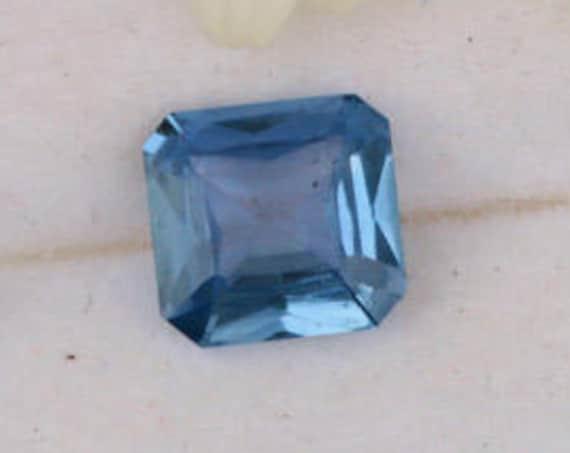 Blue Sapphire 6.8 x 6.6mm Asscher Cut