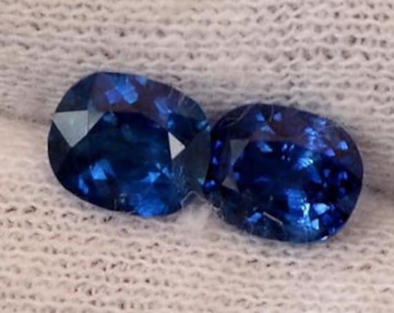 Ceylon Blue Sapphire Pair 1.85cts tw