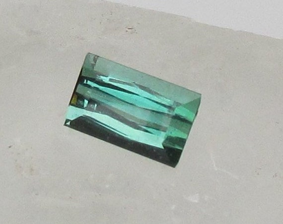 Blue Green Tourmaline 4.11cts Rectangle