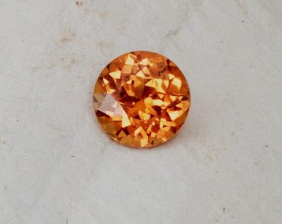 Copper Color Sapphire 6.5 MM Round