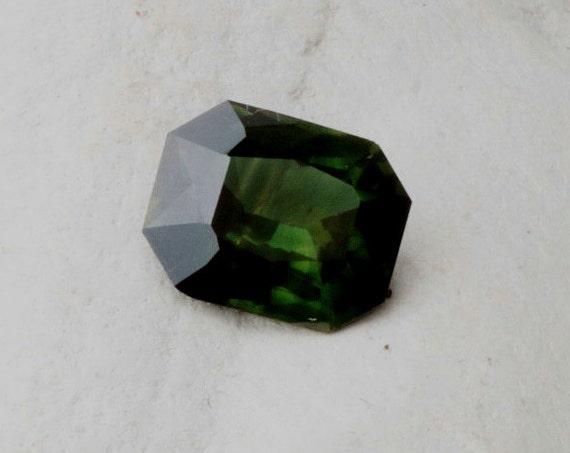 Emerald Cut Green Sapphire 2.63 Cts