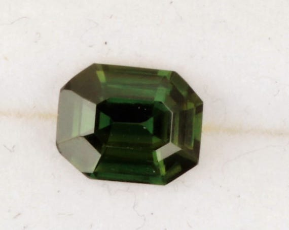 ON HOLD Green Sapphire Emerald Cut 1.33ct