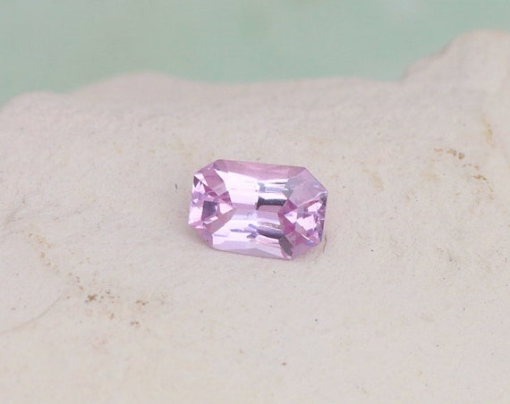 Radiant Emerald Cut Pink Sapphire 0.90cts Precision Cut by Rogerio
