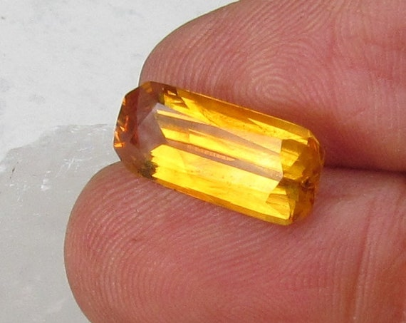 Emerald Cut Yellow Sapphire 17 x 7.6mm