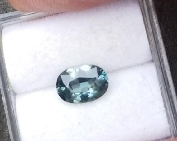 Ceylon Blue Green Sapphire 7.7x5.5 MM Oval Precision Cut