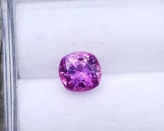 ON HOLD Unique Ceylon Purple Sapphire 1.01 Cts Cushion