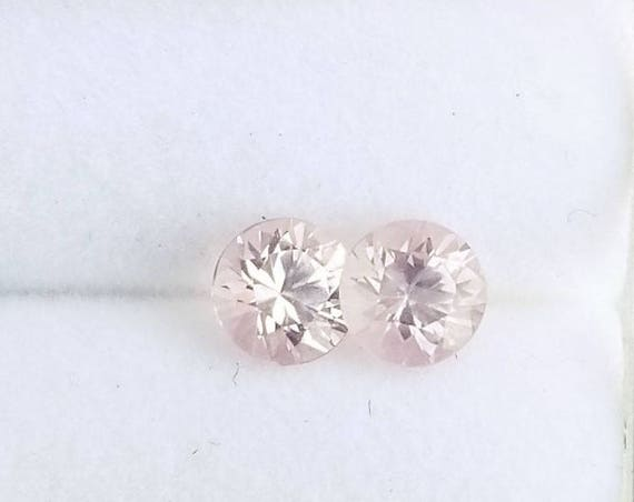 Ice Pink Sapphire Pair 4.5 MM Round