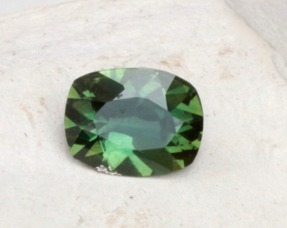 Antique Cushion Green Sapphire 1.40cts