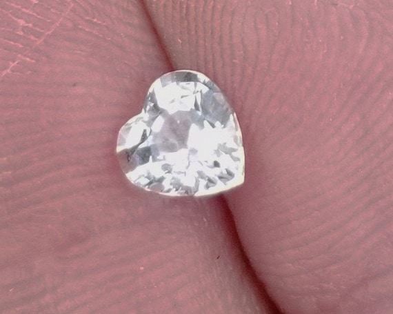 Heart Shape White Sapphire 5.6x5.4MM