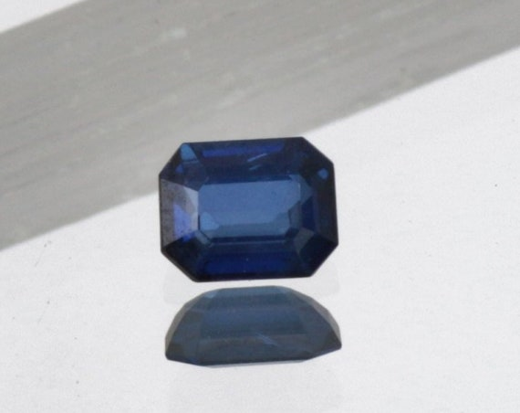 Blue Sapphire 6.2 x 4.8mm Emerald Cut Wholesale Price
