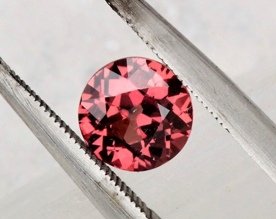 ON HOLD Round Cherry Sapphire 1.27cts Precision Cut Round