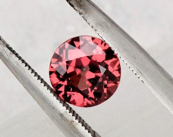 Round Cherry Sapphire 1.27cts Precision Cut Round