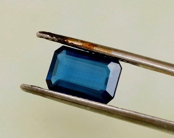 Blue Sapphire Emerald Cut 10.5 x 6.8 MM Wholesale Gemstone