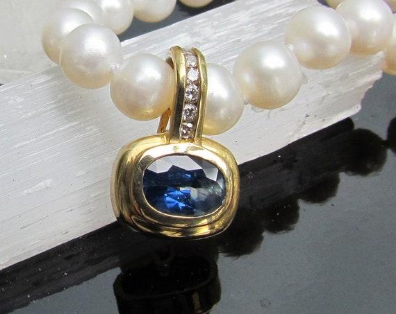 Handmade Purple Sapphire Layering Necklace