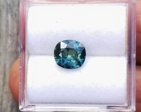 Natural Blue Green Sapphire 7x6.2 mm Precision Cut