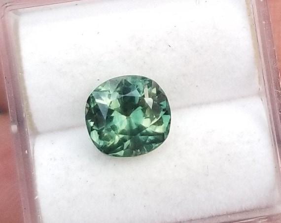 Ceylon Green Sapphire 2.03 Cts Precision Cut Gemstone