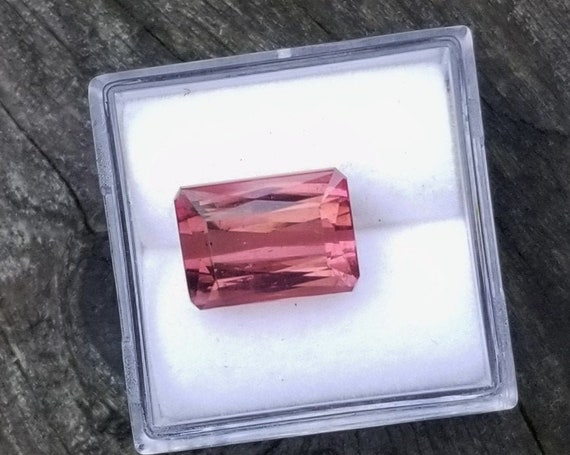 Pink Tourmaline 5.56Cts Emerald Cut October Gemstone