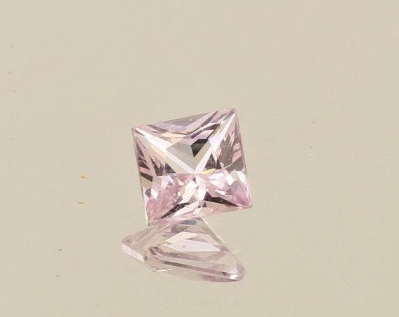 Princess Cut Pink Sapphire 0.88cts