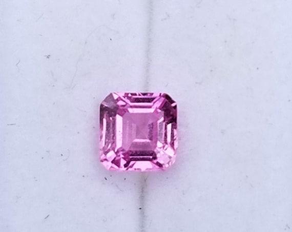 Asscher Cut 0.71 Ct Hot Pink Sapphire 4.7 MM Square