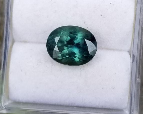 Ceylon Blue Green Sapphire 8.6x6.2 MM Oval
