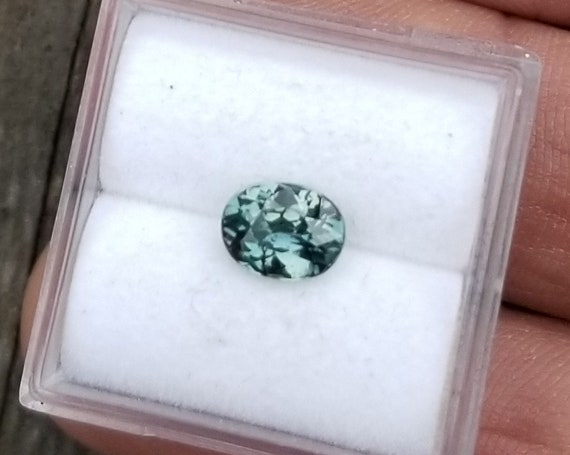 Ceylon Blue Green Sapphire 1.17Cts Oval Precision Cut