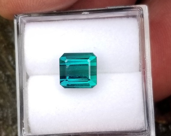 Fine Indicolite 1.98 Ct Square October Birthstone
