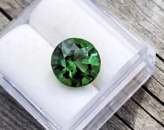 Unique Green Tourmaline 9.2 MM Round