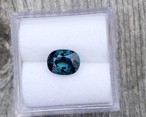 Peacock Blue Green Sapphire 1.57 Cushion Shape