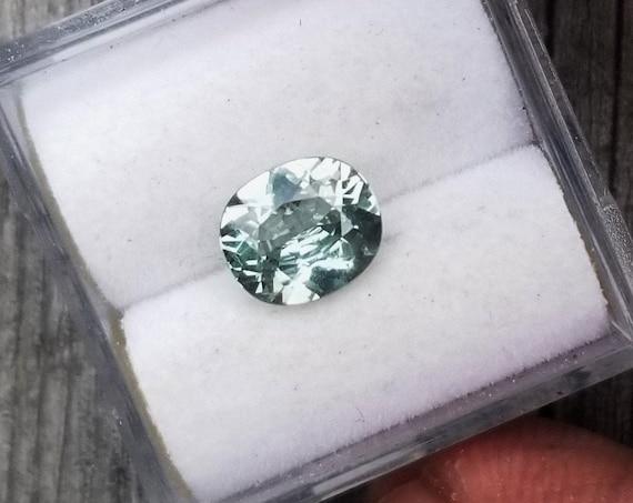 Mint Fine Sapphire 7.3x6.2 MM Oval Precision Cut