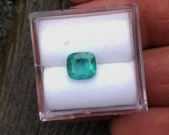 Cushion Emerald 6.8x6.2MM May Birthstone