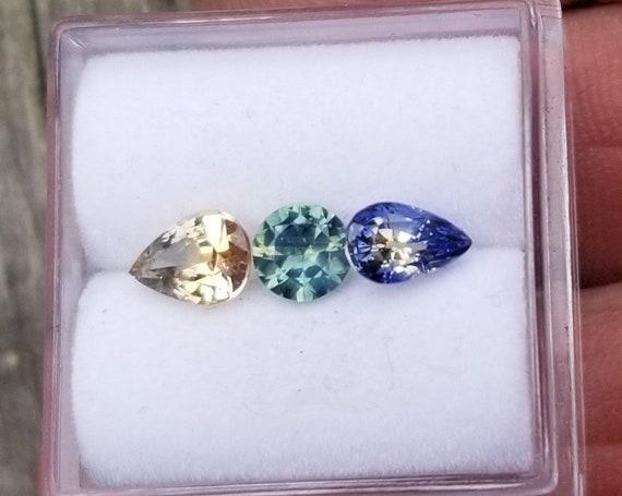 Parti Color Sapphire Parcel 1.82 Cts Multicolor Gemstones