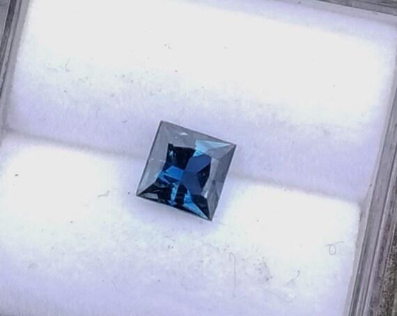 Montana Princess Cut 0.60 Ct Blue Sapphire 4.6MM