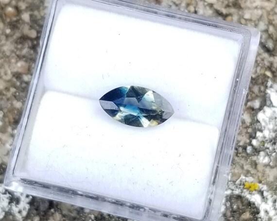 Parti Color Ceylon Sapphire 8.7x4.6mm Marquise Unique Gemstone