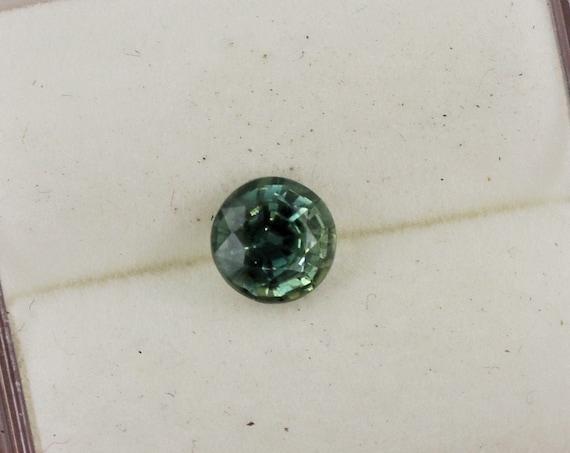 Round Blue Green Sapphire 0.56cts