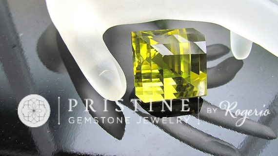 Citrine cut into The Illusion Cut by Rogerio Graca