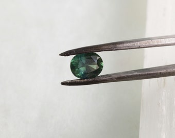 Oval blue Green Sapphire 1.46 Carats Wholesale September Birthstone