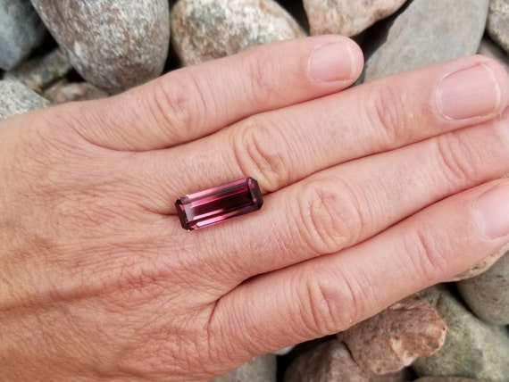 Pink Tourmaline 9.31cts Emerald Cut