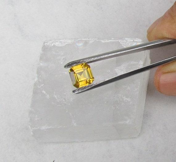 Asscher Cut Yellow Sapphire 2.02cts