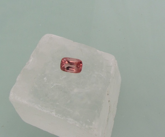 Padparadscha Colored Spinel 8 x 5.5mm Antique Cushion