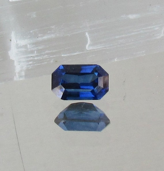 Radiant Emerald Cut Blue Sapphire 1.48cts